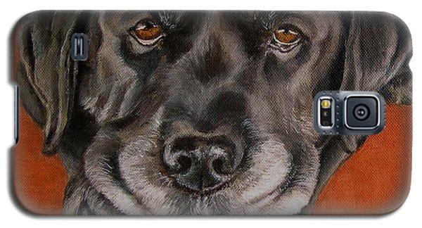 Black Labrador Rests Head Rescue Dog Galaxy S5 Case