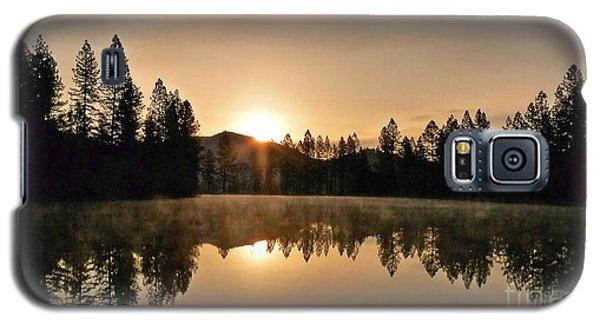 Black Lace Sunrise Galaxy S5 Case