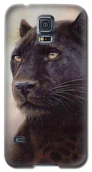 Black Leopard Painting Galaxy S5 Case