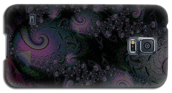Galaxy S5 Case featuring the digital art Black Light Reveal by Elizabeth McTaggart