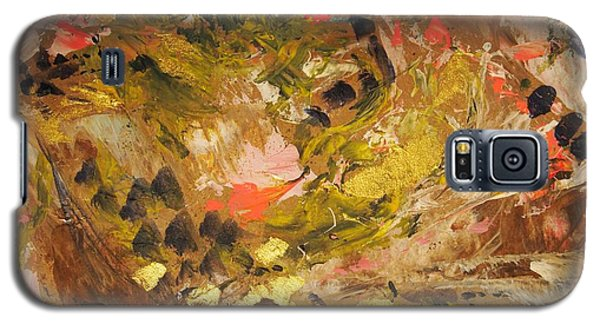 Galaxy S5 Case featuring the painting Black Lily Valley by Nancy Kane Chapman
