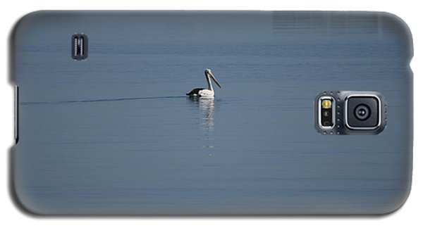 Black Line Pelican  Calm Water Galaxy S5 Case by Phoenix De Vries