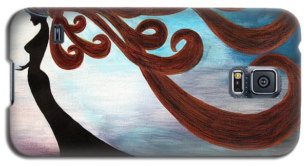 Black Magic Woman Galaxy S5 Case by Jolanta Anna Karolska