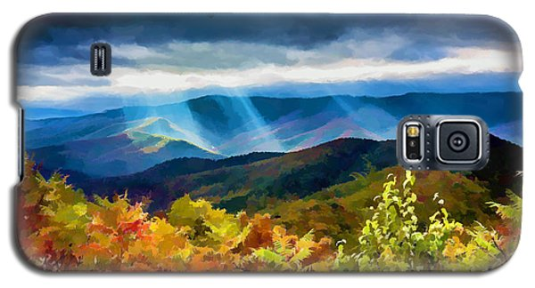Black Mountains Overlook On The Blue Ridge Parkway Galaxy S5 Case by John Haldane