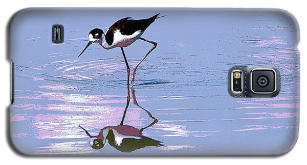 Galaxy S5 Case featuring the photograph Black Neck Stilt by Tom Janca