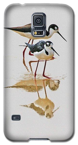 Black Neck Stilts Togeather Galaxy S5 Case