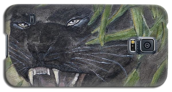 Galaxy S5 Case featuring the painting Black Panther Fury by Kelly Mills
