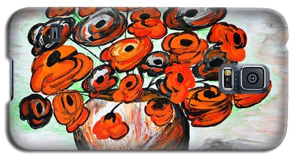 Black Poppies Galaxy S5 Case