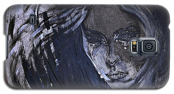 black portrait 16 Juliette Galaxy S5 Case by Sandro Ramani