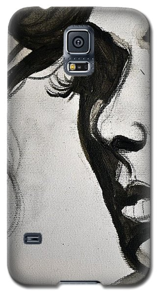 Black Portrait 16 Galaxy S5 Case by Sandro Ramani