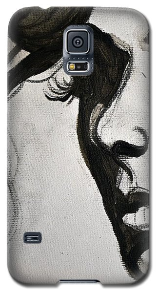 Black Portrait 16 Galaxy S5 Case by Sandro Ramani