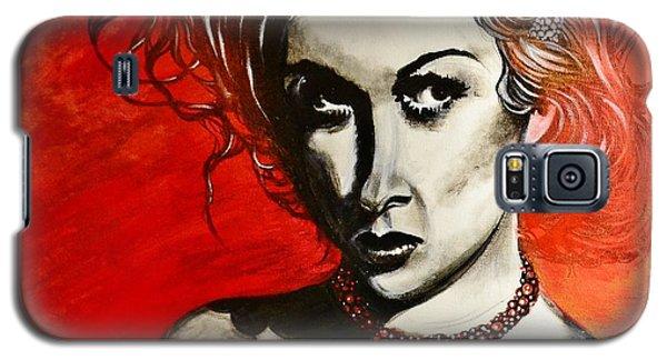 Black Portrait 20 Galaxy S5 Case by Sandro Ramani