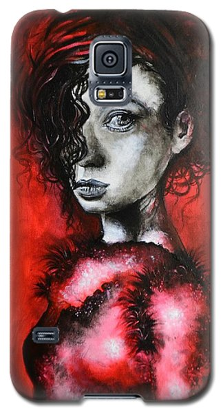 Black Portrait 23 Galaxy S5 Case by Sandro Ramani