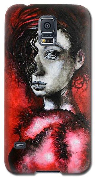 Black Portrait 23 Galaxy S5 Case by Sandro Ramani