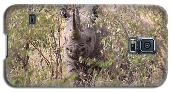 Galaxy S5 Case featuring the photograph Black Rhino  by Chris Scroggins