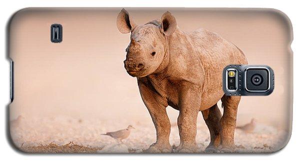 Dove Galaxy S5 Case - Black Rhinoceros Baby by Johan Swanepoel
