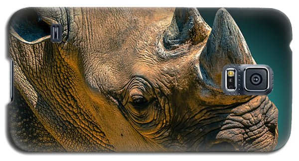 Black Rhinoceros Galaxy S5 Case