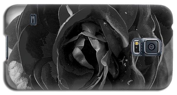 Black Rose Galaxy S5 Case by Nina Ficur Feenan