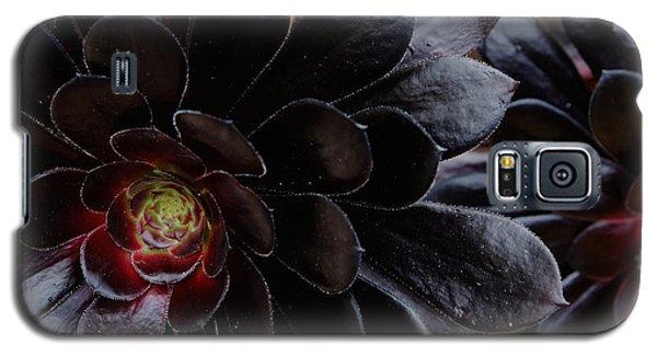 Black Succulent Galaxy S5 Case