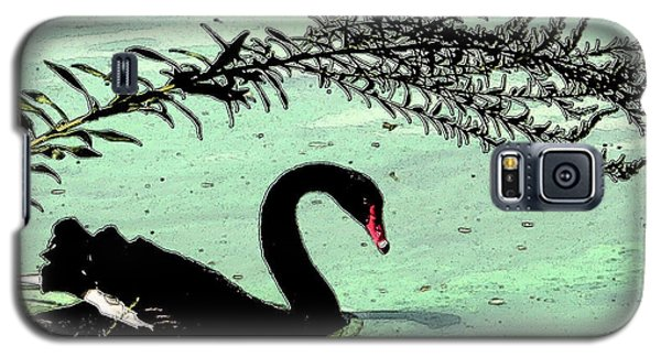 Galaxy S5 Case featuring the photograph Black Swan2 by Janet Greer Sammons