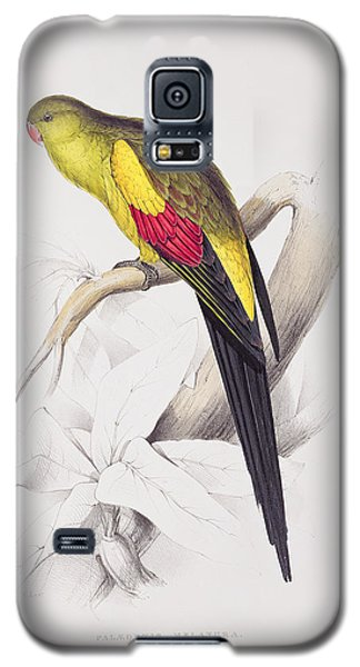 Black Tailed Parakeet Galaxy S5 Case by Edward Lear