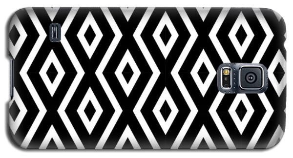 Black And White Pattern Galaxy S5 Case
