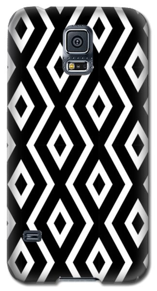 Black And White Pattern Galaxy S5 Case by Christina Rollo