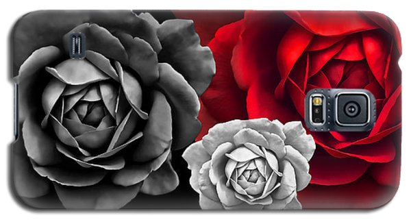 Black White Red Roses Abstract Galaxy S5 Case