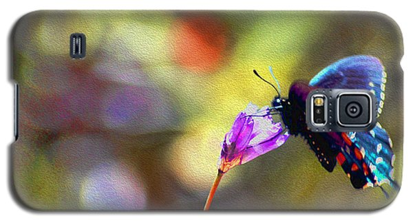 Galaxy S5 Case featuring the photograph Black Willowtail Butterfly by William Havle