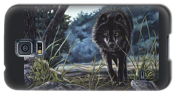 Black Wolf Hunting Galaxy S5 Case