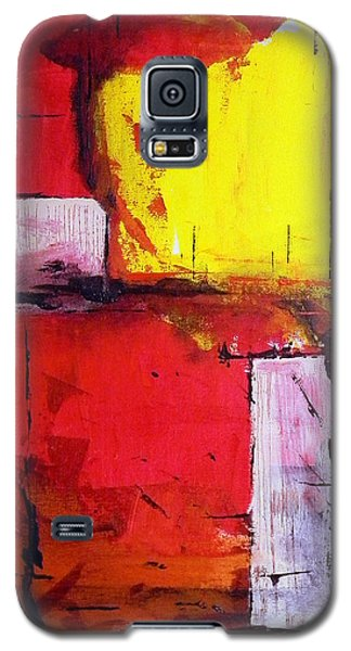 Galaxy S5 Case featuring the painting Black Works by Teddy Campagna