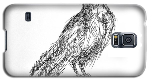 Galaxy S5 Case featuring the drawing Blackbird  by Nicole Gaitan