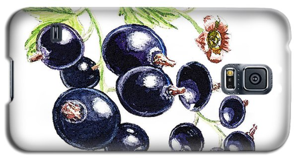 Galaxy S5 Case featuring the painting Blackcurrant Berries  by Irina Sztukowski