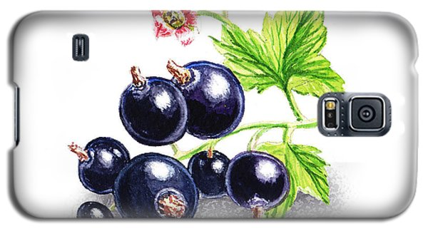 Galaxy S5 Case featuring the painting Blackcurrant Still Life by Irina Sztukowski