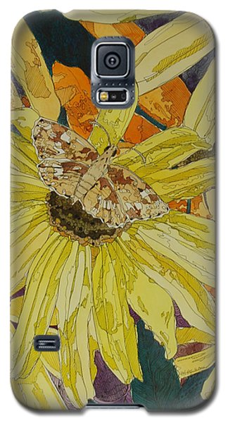 Blackeyed Susans And Butterfly Galaxy S5 Case