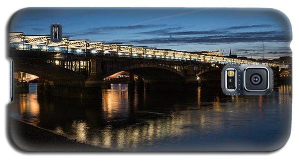 Galaxy S5 Case featuring the photograph Blackfriars Bridge - London U K by Georgia Mizuleva