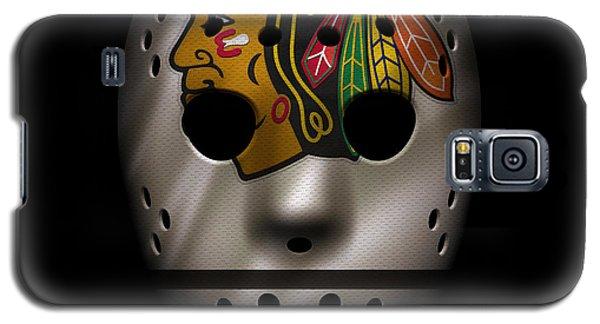 Blackhawks Jersey Mask Galaxy S5 Case by Joe Hamilton