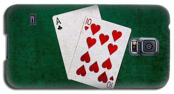 Blackjack Twenty One 1 Galaxy S5 Case by Alexander Senin
