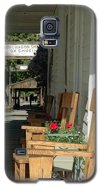Blacksmith Shop On The Boardwalk Of Virginia City Montana Galaxy S5 Case