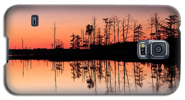 Galaxy S5 Case featuring the photograph Blackwater Reflections by Jennifer Casey