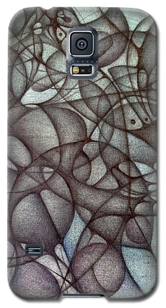 Galaxy S5 Case featuring the drawing Blank Inside Card Design Twenty Six by Jack Dillhunt
