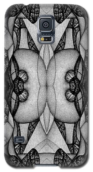 Galaxy S5 Case featuring the drawing blank Inside Card Image by Jack Dillhunt