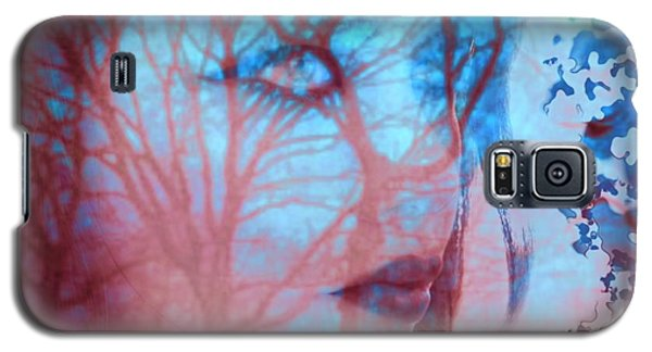 Galaxy S5 Case featuring the digital art Blank Stare by Diana Riukas