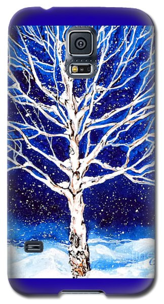 Galaxy S5 Case featuring the painting Blanket Of Stillness by Jackie Carpenter