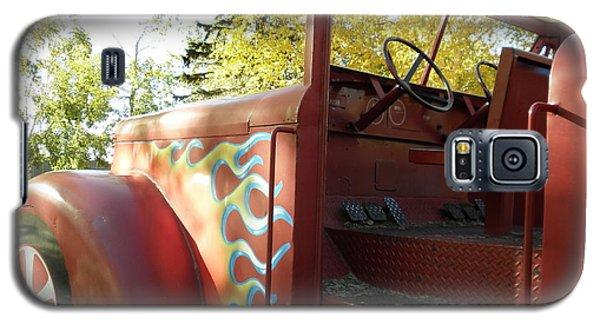 Blazing Red Fire Truck Galaxy S5 Case