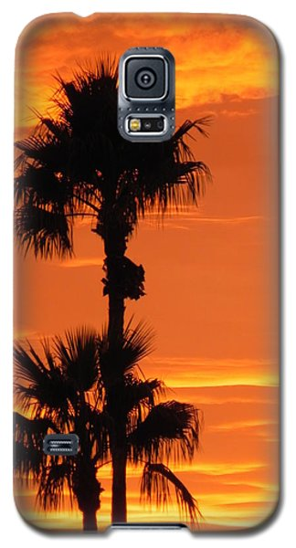 Galaxy S5 Case featuring the photograph Blazing Sunset by Deb Halloran