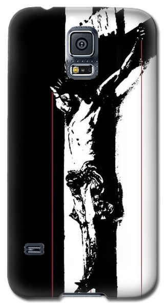 Galaxy S5 Case featuring the photograph Bleeding Cross by Steve Godleski