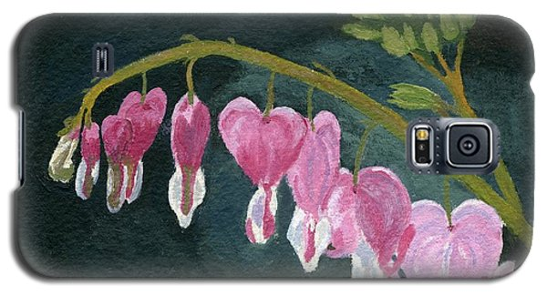 Galaxy S5 Case featuring the painting Bleeding Heart by Lynne Reichhart
