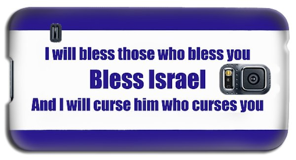 Bless Israel Poster Galaxy S5 Case