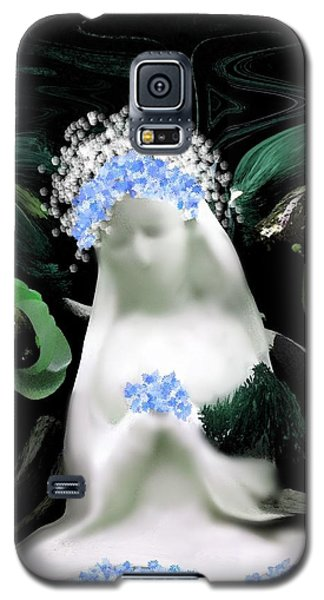 Galaxy S5 Case featuring the digital art Blessed Mother Mary by Sherri  Of Palm Springs